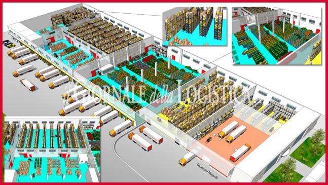 Il layout del polo logistico Brivio & Viganò di Usmate Velate