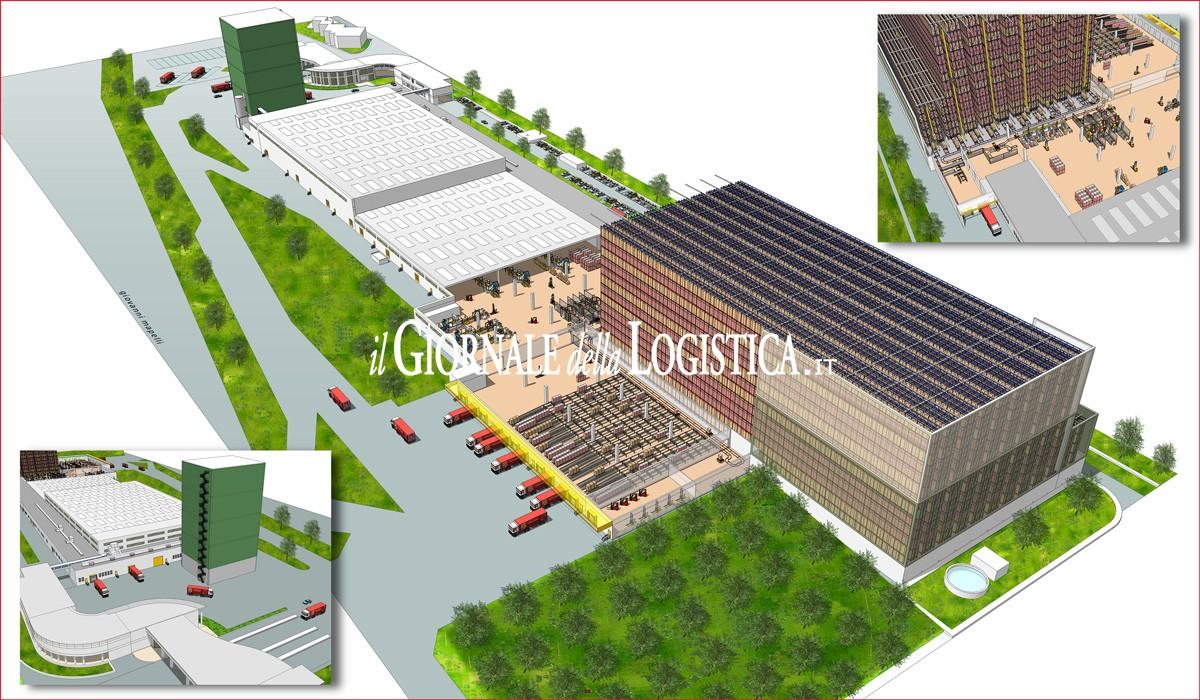 Il layout del magazzino di Pasta Zara a Muggia (TS)