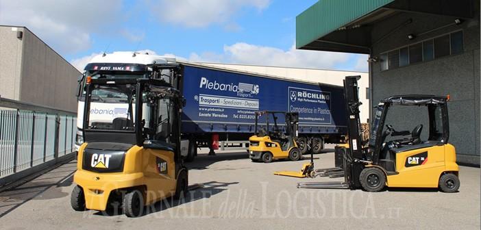 Una gamma completa di carrelli CAT Lift Trucks per Plebania Trasporti